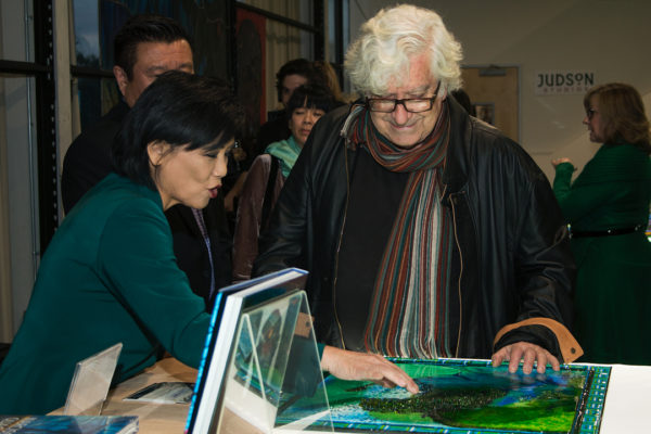 Judson Studios Awarded U.S. Congressional, State of California Senate, and California Legislature Assembly Recognitions at Reception for Completion of the World's Largest Fused Glass Window at Judson Studios. February 11, 2017. South Pasadena, CA.